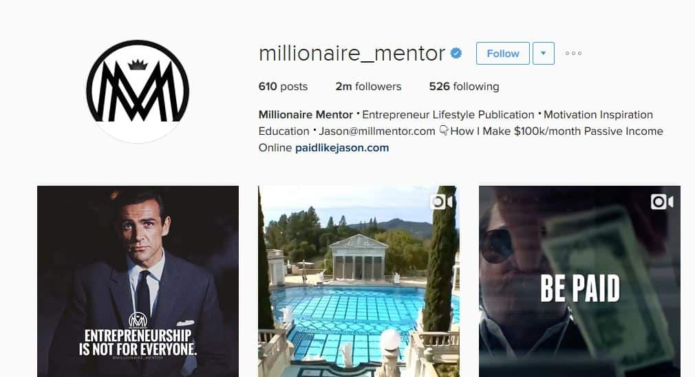 millionaire_mentor instagram account and strategy - letsreachsuccess.com